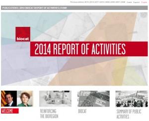 Memoria Biocat 2014