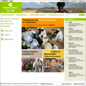 Web Intermón Oxfam 2005